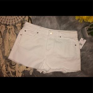 Volcum white denim shorts